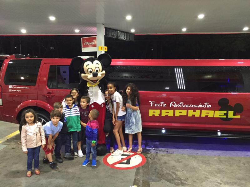 Aluguel de Limousine para Festa Infantil com Personagem Santa Isabel - Aluguel Limousine Casamento