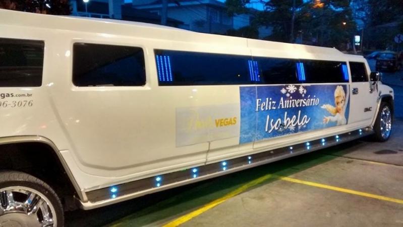 Locação de Limousine para Aniversário Infantil Preço Santo André - Locação de Limousine de Aniversário Infantil