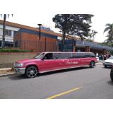 aluguel de limousine de aniversário rosa preço Cotia