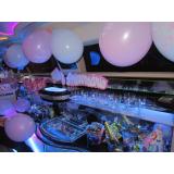 aluguel de limousine para aniversário sp Água Branca