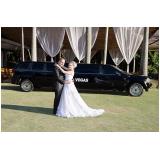 aluguel limousine de casamentos preço Carapicuíba