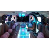 aluguel limousine para festa infantil com personagem valor Água Bonita
