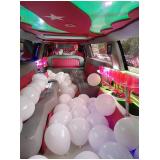 aluguel limousine para festa infantil com personagem Canguera