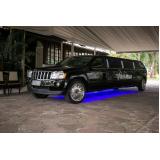 aluguel limousine para formatura valor Mendonça