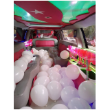 empresa de aluguel de limousine de aniversário rosa Limeira