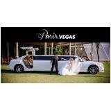 limousine luxo branca para noivas Rio Claro