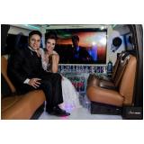 limousines de luxo branca para noivas Rio Claro