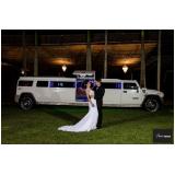limousine luxo branca para noivas