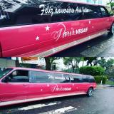 locação de limousines de aniversário rosa Americana