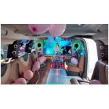 locação de limousine para aniversário debutante